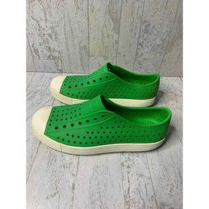 Native Jefferson Shoes Boy J4 Green Slip On Rubber